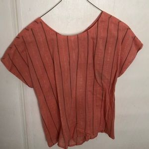 Salmon Blouse with pretty back